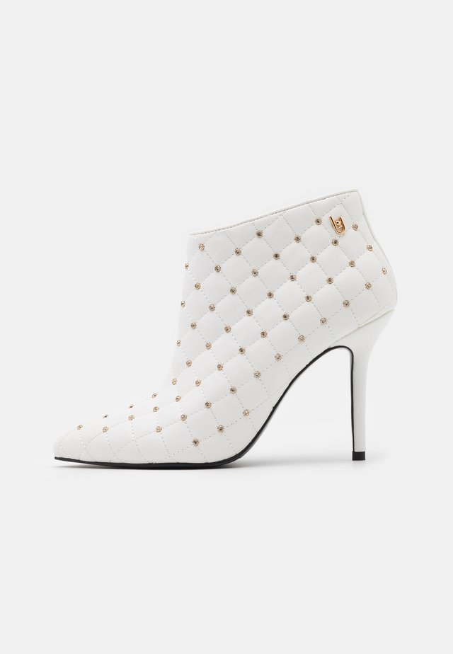 ADELE  - High heeled ankle boots - white