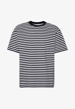 ICON STRIPE BOX TEE III  - Print T-shirt - black