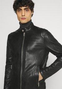 Gipsy - BENNET - Leather jacket - black - 4