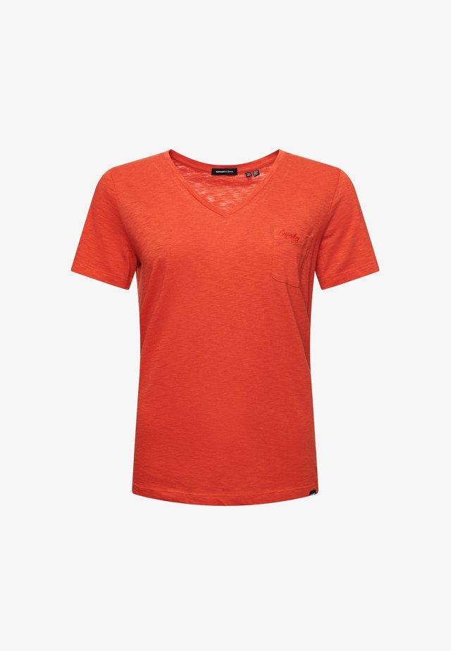 Basic T-shirt - denim co rust