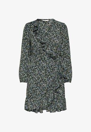 ONLCARLY WRAP SHORT DRESS - Day dress - black 2
