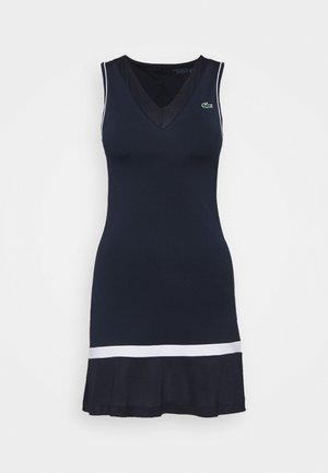 TENNIS DRESS - Sports dress - navy blue/white