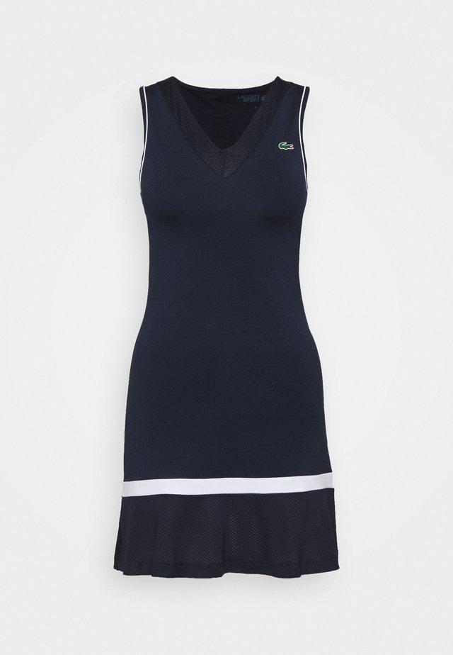 TENNIS DRESS - Sports dress - navy blue/white