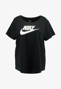Nike Sportswear - FUTURA PLUS - Camiseta estampada - black/white - 3