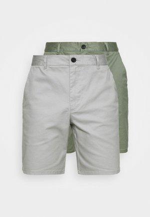 2 PACK - Shorts - khaki/grey