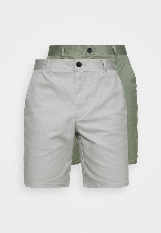 2 PACK - Short - khaki/grey