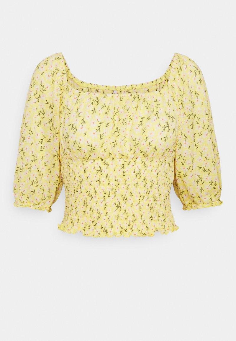 ONLY - ONLPELLA SMOCK - T-shirt med print - sunshine