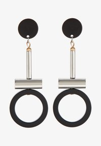 GUANNA - Earrings - silber/schwarz