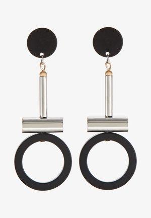 GUANNA - Earrings - silber/schwarz