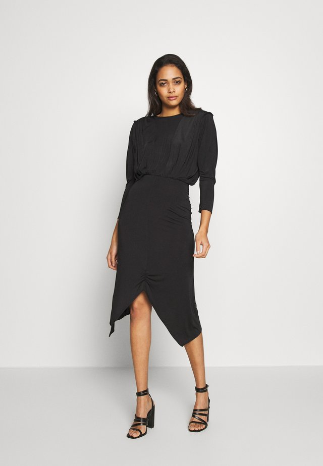 RUCHE DRESS - Shift dress - noir