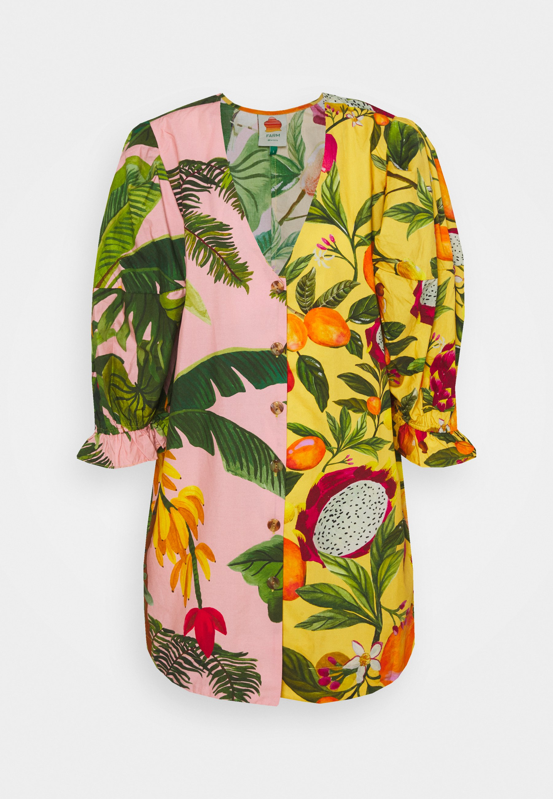 Femme MIXED PRINTS PUFF SLEEVES - Blouse