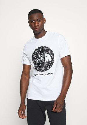 GEODOME - T-shirt z nadrukiem - white