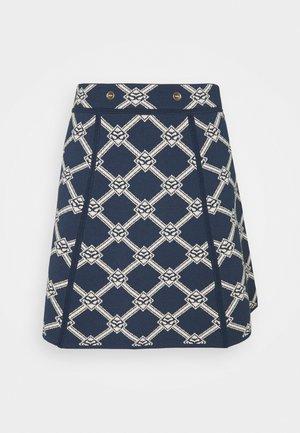 Mini skirt - beige/bleu