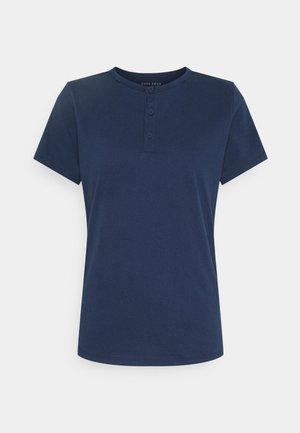 HENLEY TEE - T-shirt print - steel blue