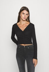Monki - OVERA - Cardigan - black dark - 0