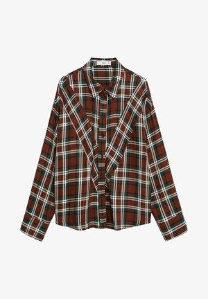 BECKY - Button-down blouse - marrón