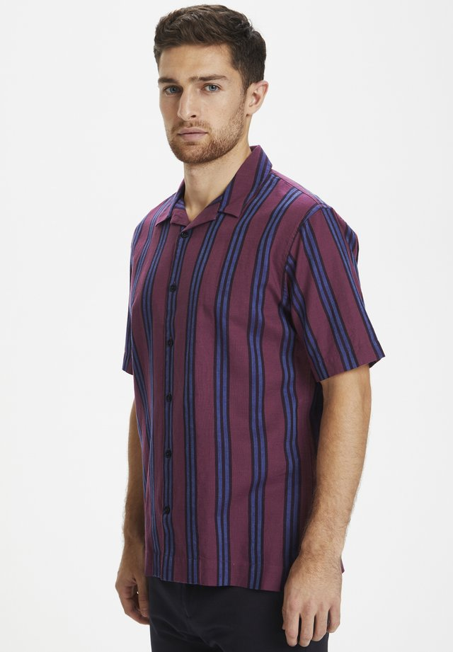 MATROSTOL RESORT 2 BOLD STRIPE - Overhemd - grape wine