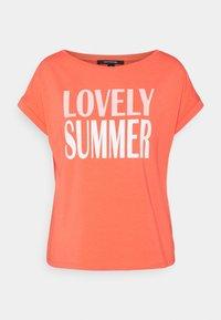 comma - T-shirt imprimé - coral - 0