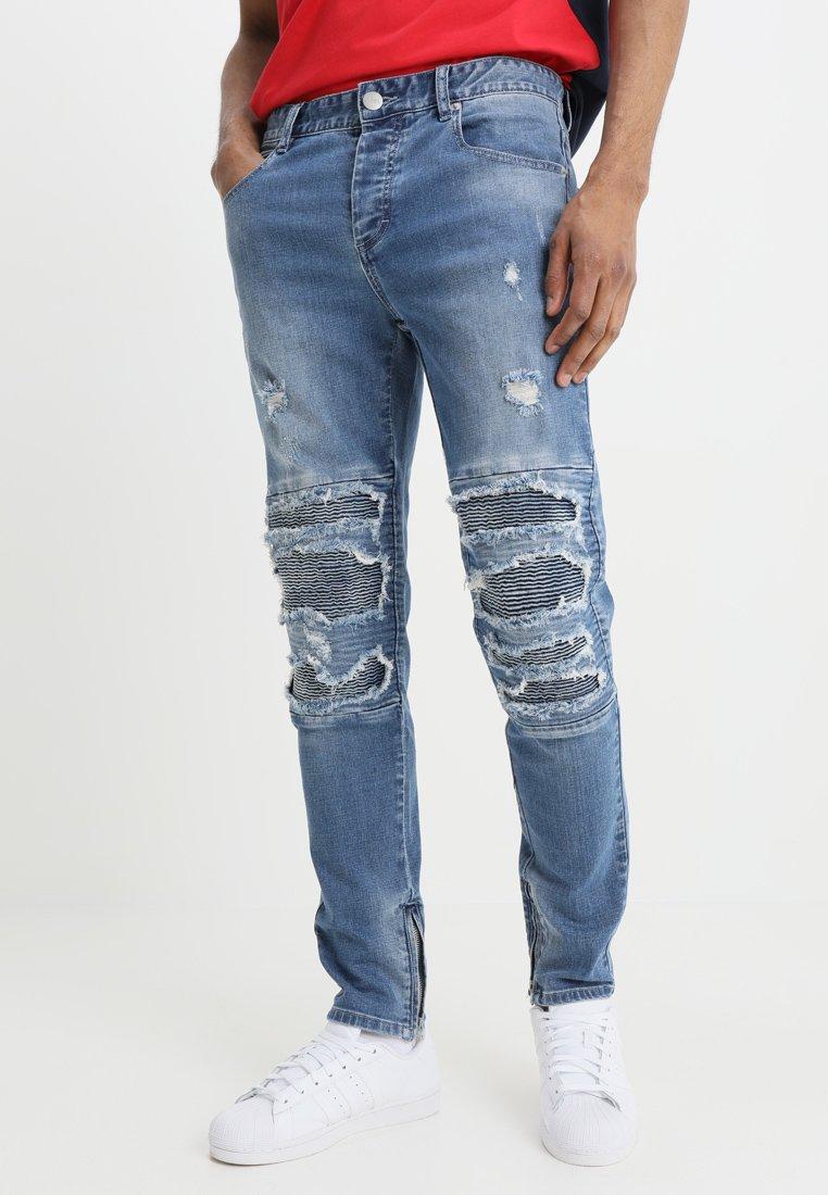 Uomo INVERTED BIKER IAN PANTS - Jeans slim fit