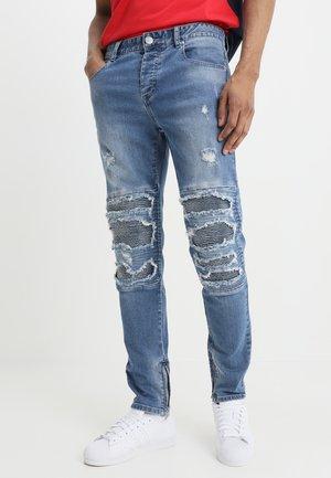 INVERTED BIKER IAN PANTS - Jeans slim fit - mid blue