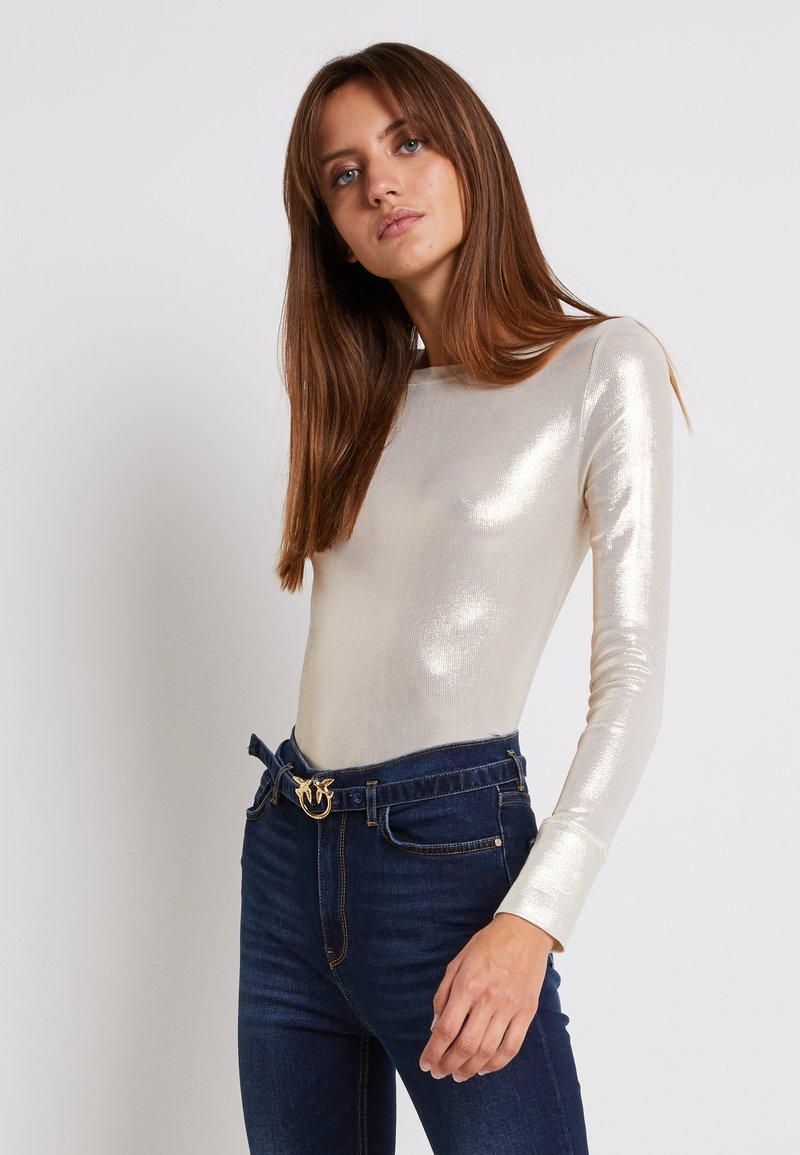 Pinko - TEREK - Bluzka z długim rękawem - oro/avorio