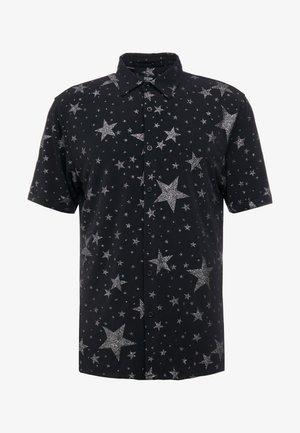 BLACK BASE SILVER GLITTERED STARS  - Košile - black