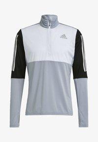 adidas Performance - OWN THE RUN RUNNING 1/2 ZIP SWEATSHIRT - Sweatshirt - grey - 6