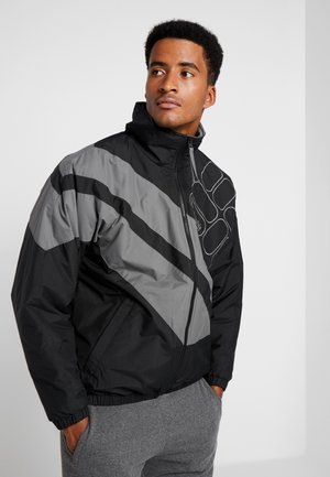 SIDELINE - Winter jacket - black/city grey