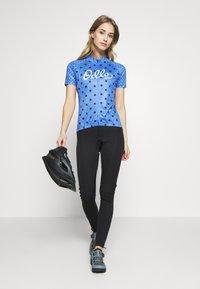 ODLO - STAND UP COLLAR FULL ZIP ELEMENT - T-Shirt print - amparo blue melange/diving navy - 1