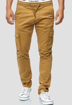 BROADWICK - Cargo trousers - camel