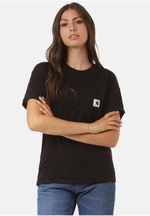 CARRIE POCKET - Print T-shirt - black