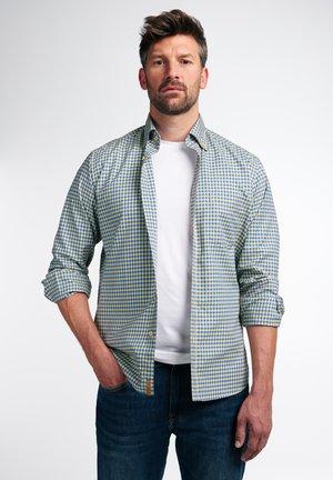 REGULAR FIT - Shirt - goldgelb/royalblau