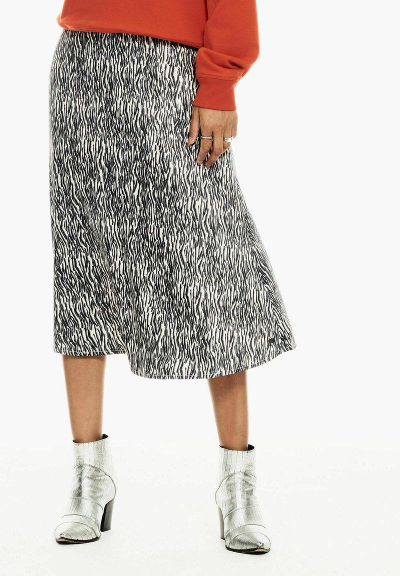 Garcia - WITH ZEBRA PRINT - A-line skirt - black