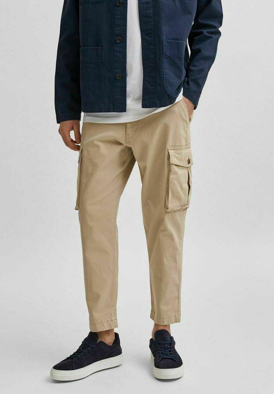 Homme SLHLOOSETAPERED AIDEN PANTS - Pantalon cargo