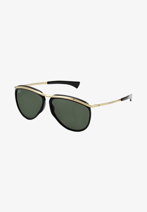 Sunglasses - black/green