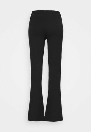JDYPRETTY SLIT PANT  - Pantalones - black