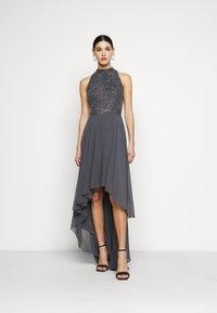 Lace & Beads Tall - AVERY HIGH LOW DRESS - Společenské šaty - charcoal - 0