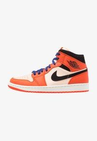 team orange/black/crimson tint/deep royal blue/sail