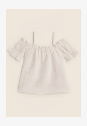 PUFF SLEEVE  - T-shirt print - white
