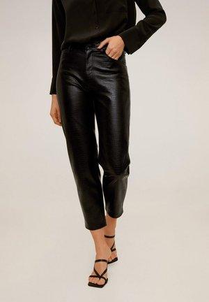 CROCO - Trousers - schwarz