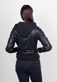 Freaky Nation - GLANCE UP-FN - Leather jacket - black - 2