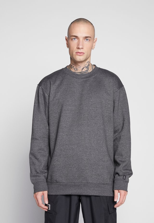 UNISEX FLASH CREW NECK SWEATER - Huvtröja med dragkedja - charcoal