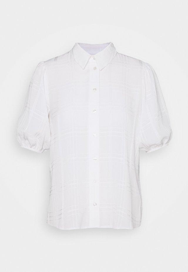 CHECK PUFF SLEEVE  - Bluzka - white