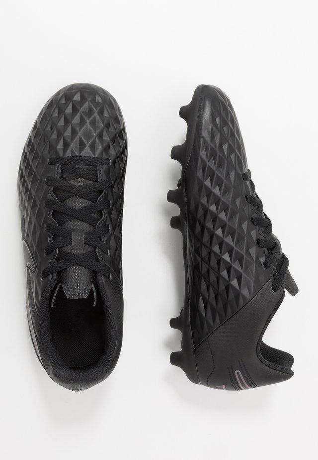 TIEMPO LEGEND 8 CLUB FG/MG UNISEX - Voetbalschoenen met kunststof noppen - black