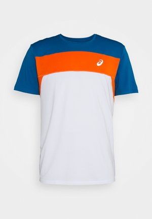RACE - Camiseta estampada - brilliant white/reborn blue