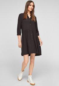 Q/S designed by - Shirt dress - black - 1