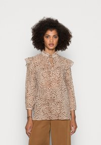 Rich & Royal - BLOUSE PRINTED WITH RUFFLES - Blouse - beige - 0