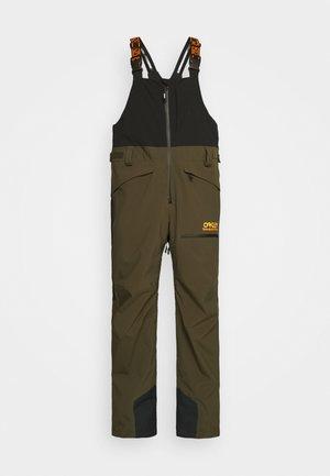 SHELL BIB - Snow pants - black/green