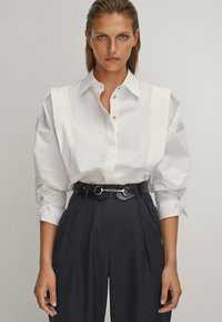 Massimo Dutti - POPELIN - Button-down blouse - white - 2