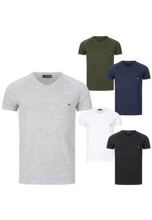 Basic T-shirt - grau, weiß, schwarz, dunkelblau, khaki